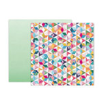 Pink Paislee - Whimsical Collection - 12 x 12 Double Sided Paper - Paper 12