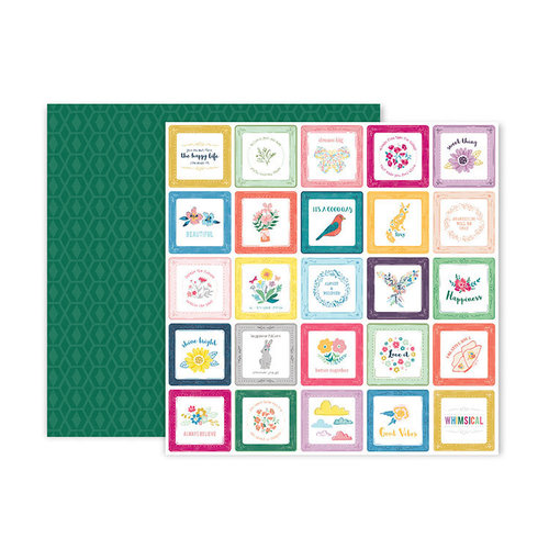Pink Paislee - Whimsical Collection - 12 x 12 Double Sided Paper - Paper 13