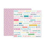 Pink Paislee - Whimsical Collection - 12 x 12 Double Sided Paper - Paper 18
