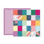 Pink Paislee - Whimsical Collection - 12 x 12 Double Sided Paper - Paper 19