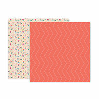 Pink Paislee - Whimsical Collection - 12 x 12 Double Sided Paper - Paper 22