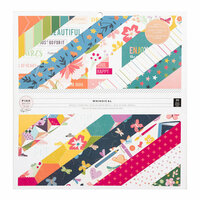 Pink Paislee - Whimsical Collection - 12 x 12 Paper Pad with Foil Accents