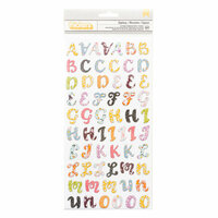 Pink Paislee - Whimsical Collection - Thickers - Printed Chipboard - Alphabet - Epiphany