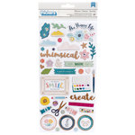 Pink Paislee - Whimsical Collection - Thickers - Printed Chipboard - Icon - Copper Foil