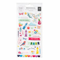 Pink Paislee - Whimsical Collection - Puffy Stickers