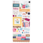 Pink Paislee - Whimsical Collection - Cardstock Stickers with Foil Accents