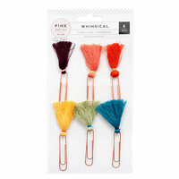 Pink Paislee - Whimsical Collection - Tassel Paper Clips