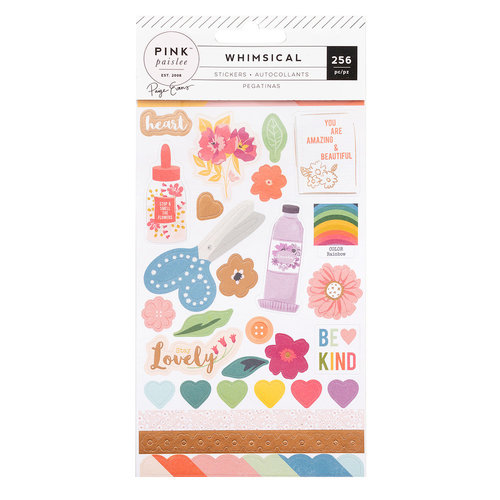 Pink Paislee - Whimsical Collection - Cardstock Sticker Book with Foil Accents