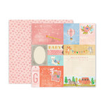 Pink Paislee - Little Adventurer Collection - 12 x 12 Double Sided Paper - Paper 1