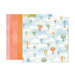 Pink Paislee - Little Adventurer Collection - 12 x 12 Double Sided Paper - Paper 7