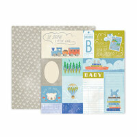 Pink Paislee - Little Adventurer Collection - 12 x 12 Double Sided Paper - Paper 8