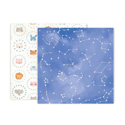 Pink Paislee - Little Adventurer Collection - 12 x 12 Double Sided Paper - Paper 10