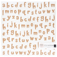 Pink Paislee - Little Adventurer Collection - 12 x 12 Paper with Glitter Accents - Boy - Alphabet