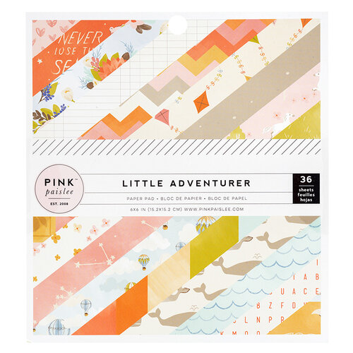 Pink Paislee - Little Adventurer Collection - 6 x 6 Paper Pad - Girl