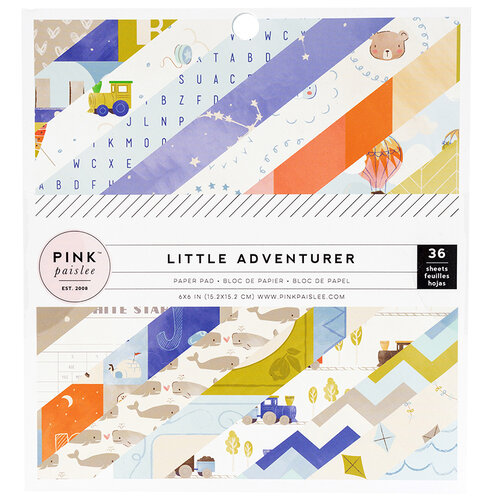 Pink Paislee - Little Adventurer Collection - 6 x 6 Paper Pad - Boy