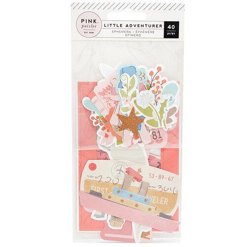 Pink Paislee - Little Adventurer Collection - Ephemera with Glitter Accents - Girl