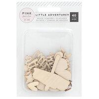 Pink Paislee - Little Adventurer Collection - Wood Veneer Pieces