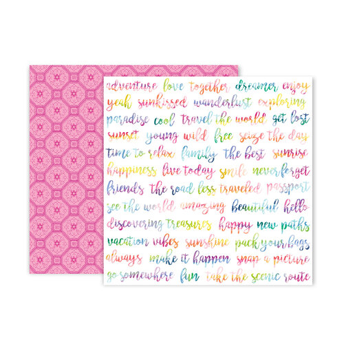 Pink Paislee - Horizon Collection - 12 x 12 Double Sided Paper - Paper 4