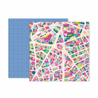 Pink Paislee - Horizon Collection - 12 x 12 Double Sided Paper - Paper 5