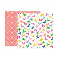 Pink Paislee - Horizon Collection - 12 x 12 Double Sided Paper - Paper 7