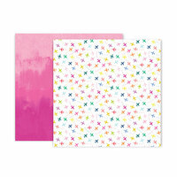 Pink Paislee - Horizon Collection - 12 x 12 Double Sided Paper - Paper 9