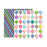 Pink Paislee - Horizon Collection - 12 x 12 Double Sided Paper - Paper 11