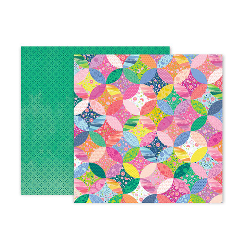 Pink Paislee - Horizon Collection - 12 x 12 Double Sided Paper - Paper 12