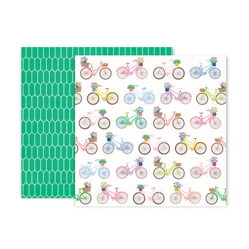 Pink Paislee - Horizon Collection - 12 x 12 Double Sided Paper - Paper 13