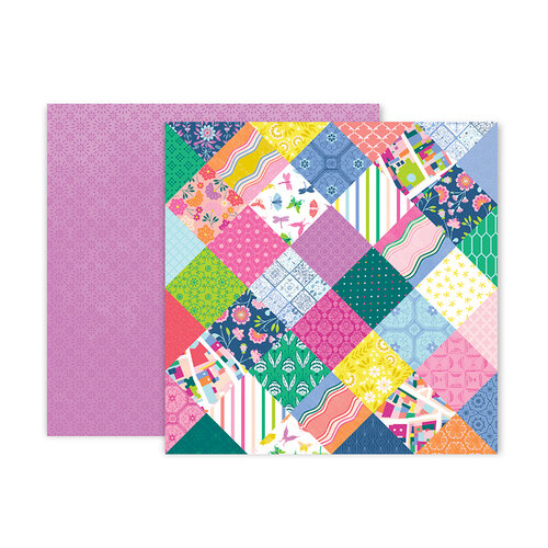 Pink Paislee - Horizon Collection - 12 x 12 Double Sided Paper - Paper 14