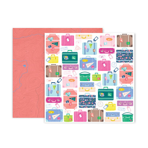 Pink Paislee - Horizon Collection - 12 x 12 Double Sided Paper - Paper 17
