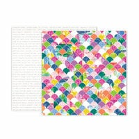 Pink Paislee - Horizon Collection - 12 x 12 Double Sided Paper - Paper 20