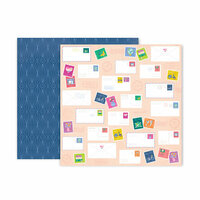 Pink Paislee - Horizon Collection - 12 x 12 Double Sided Paper - Paper 22