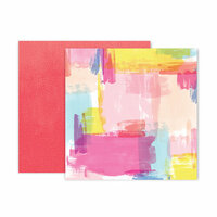 Pink Paislee - Horizon Collection - 12 x 12 Double Sided Paper - Paper 24
