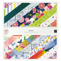 Pink Paislee - Horizon Collection - 12 x 12 Paper Pad