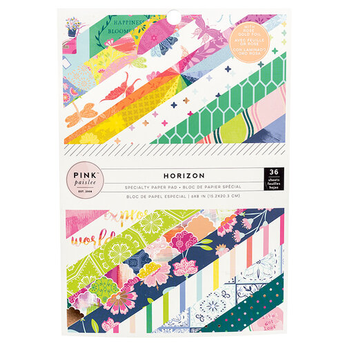Pink Paislee - Horizon Collection - 6 x 8 Paper Pad with Foil Accents
