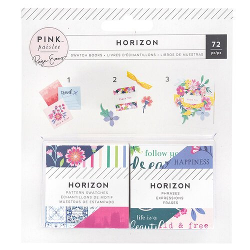 Pink Paislee - Horizon Collection - 2 x 2 Paper Pad - Swatch Book