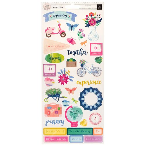 Pink Paislee - Horizon Collection - Cardstock Stickers