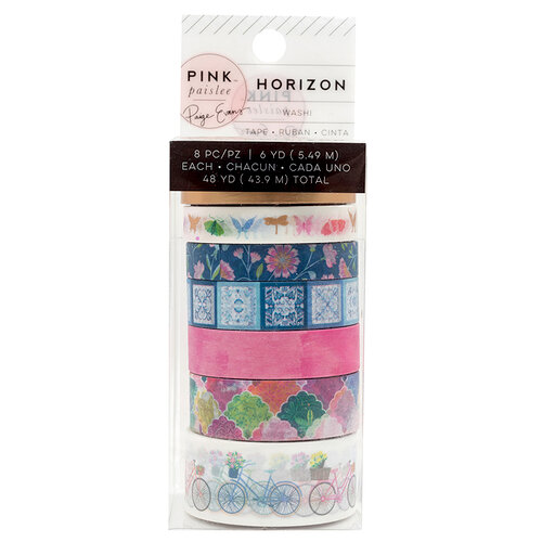 Pink Paislee - Horizon Collection - Washi Tape Set with Foil Accents