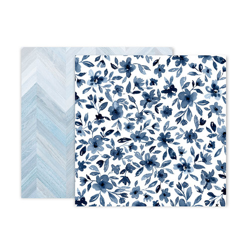 Pink Paislee - Indigo and Ivy Collection - 12 x 12 Double Sided Paper - Paper 2