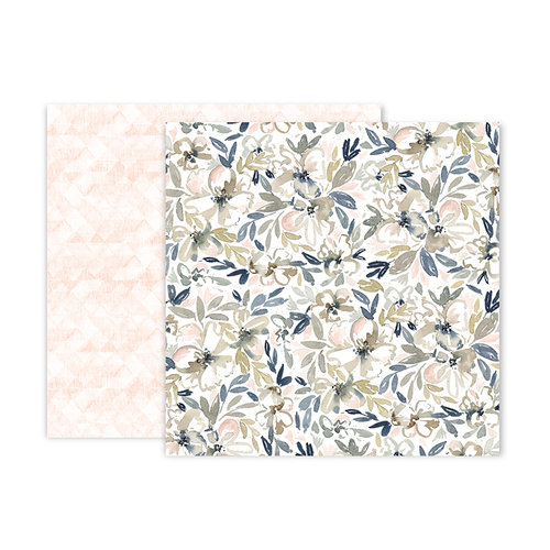 Pink Paislee - Indigo and Ivy Collection - 12 x 12 Double Sided Paper - Paper 5