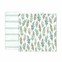 Pink Paislee - Indigo and Ivy Collection - 12 x 12 Double Sided Paper - Paper 10