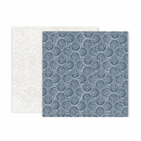 Pink Paislee - Indigo and Ivy Collection - 12 x 12 Double Sided Paper - Paper 11