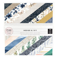 Pink Paislee - Indigo and Ivy Collection - 6 x 6 Paper Pad