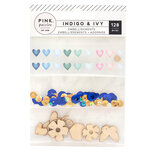 Pink Paislee - Indigo and Ivy Collection - Mixed Embellishments