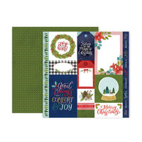 Pink Paislee - Together For Christmas Collection - 12 x 12 Double Sided Paper - Paper 1