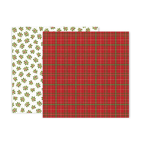 Pink Paislee - Together For Christmas Collection - 12 x 12 Double Sided Paper - Paper 10