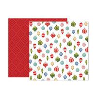 Pink Paislee - Together For Christmas Collection - 12 x 12 Double Sided Paper - Paper 11