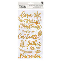 Pink Paislee - Together For Christmas Collection - Thickers with Foil Accents - Words