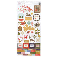 Pink Paislee - Together For Christmas Collection - 6 x 12 Sticker Sheets with Foil Accents