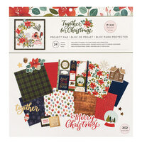 Pink Paislee - Together For Christmas Collection - 12 x 12 Project Pad